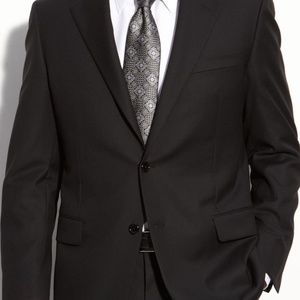 Hickey Freeman Charcoal Gray Suit 40 Long